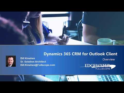 Microsoft Dynamics 365 CRM for Outlook Client Demo