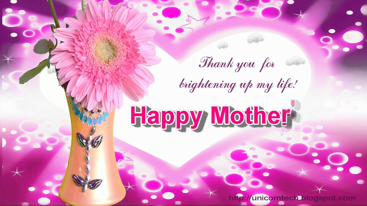 Thank you for brightening up my life mothers day greeting e thank you for brightening up my life mothers day greeting e card kristyandbryce Image collections