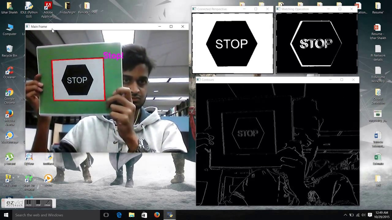 Real-Time Object Detection in OpenCV with Automatic Perspective Correction!