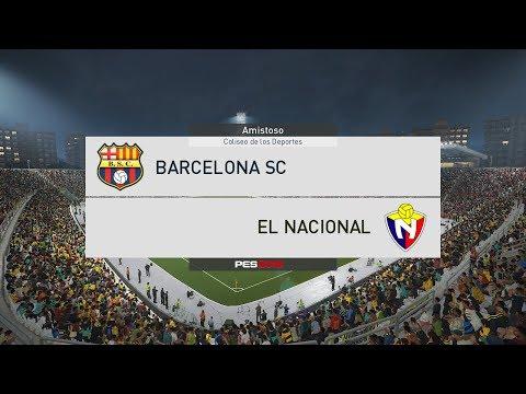 Barcelona SC vs Nacional 18/03/2018 HD | 1era Etapa Copa Havoline | GAMEPLAY PES2018