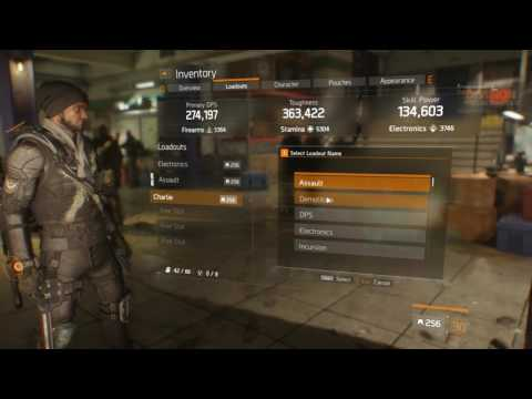 Loadouts In Detail PTS 1.6.1 - The Division