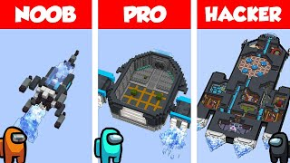 Minecraft NOOB vs PRO vs HACKER: THE SKELD HOUSE BUILD CHALLENGE in Minecraft / Animation