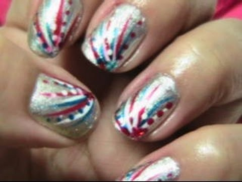 Easy fourth of july nails youtube easy fourth of july nails prinsesfo Gallery