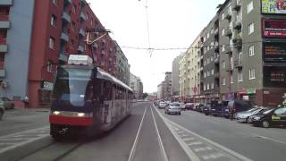 Tram line n.1, Bratislava, Slovakia, in cab view, Part.1