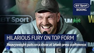 Hilarious Tyson Fury! Heavyweight hero lights up press conference