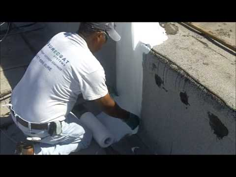 How To Repair A Flat Roof Parapet Wall Seams Youtube