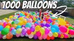 MAKING A FOOTBALL PITCH with 1000 BALLOONS 😱🎈*NEVER DONE BEFORE*