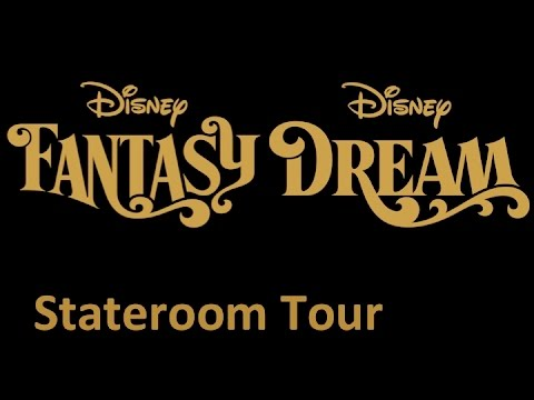 disney fantasy and disney dream: stateroom with verandah tour (hd