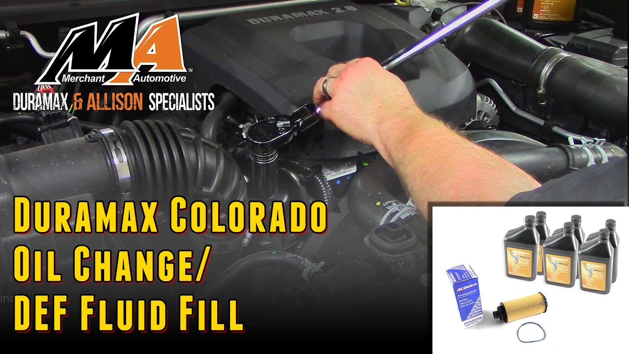 2015 Chevy Colorado Oil Change