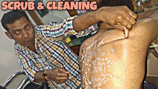 Download Body scrub and body cleaning by Indian barber | Powerful neck cracking | ASMR Mp3 and Videos