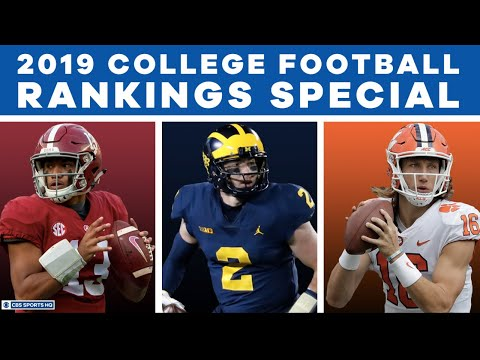 2019 College Football Rankings Special | Who will be number 1? | Cover 3