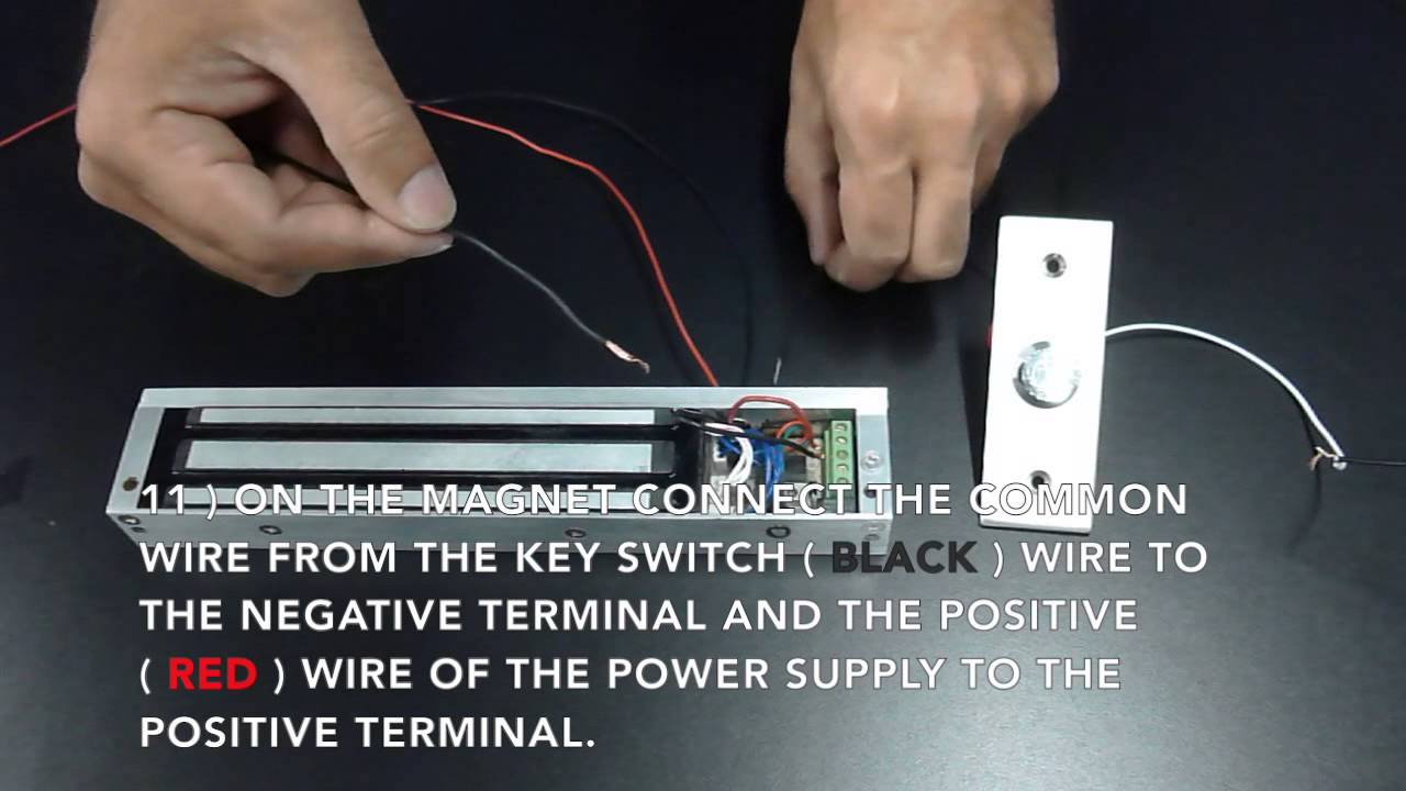door access control system wiring diagram 2006 volvo xc90 radio wireless entry pawn shop magnetic lock kit instructions - youtube
