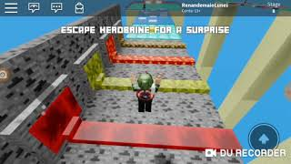 Escapando do Herobrine no Roblox & Minecraft (Escape of Herobrine obby)