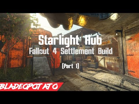 Starlight Hub - Entrance/Clinic (Part 1) [Fallout 4 Settlement Build]