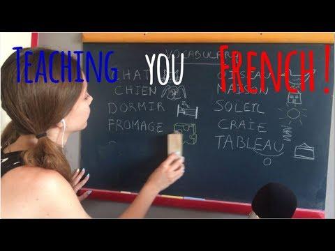 ASMR   RP: Soft spoken French lesson on black board