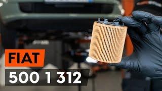 Τοποθέτησης Λάδι κινητήρα βενζίνη και ντίζελ FIAT 500 (312): δωρεάν βίντεο