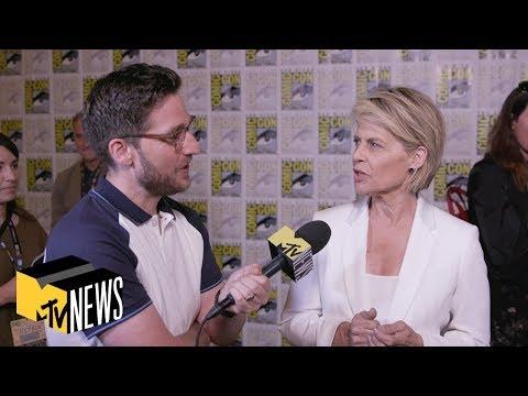 'Terminator' Star Linda Hamilton Does Her Best Arnold Schwarzenegger Impression   MTV News