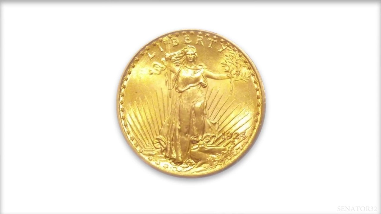 Coins in Motion - 1924 Saint Gaudens Double Eagle - $20 Gold Coin