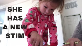 NEW STIMMING BEHAVIOR FOR AUTISTIC GIRL | TODDLER WITH AUTISM [AUTISM VLOG #175]
