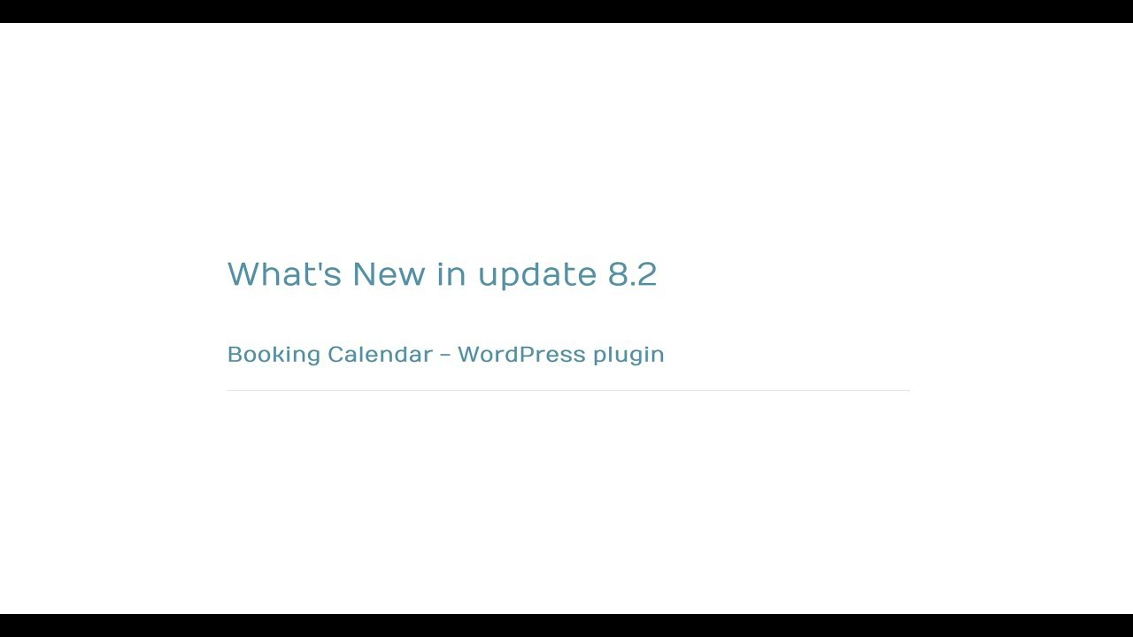 Whats New On Calendar >> Booking Calendar What S New In Update 8 2 Youtube