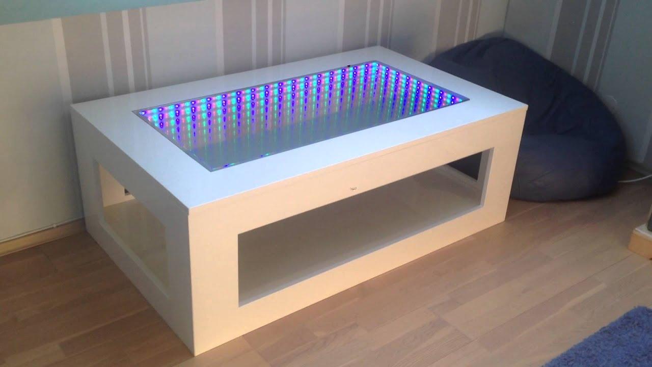 3D LED Illusion mirror table