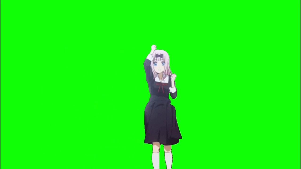 ✔️GREEN SCREEN EFFECTS: Chika dance - anime girl dancing