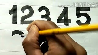 Скачать English Numbers How To Write English Numbers 123456789 By Brush