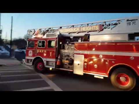 BERGEN COUNTY NEW JERSEY FIRE TRUCKS RESPONDING COMPILATION P-3
