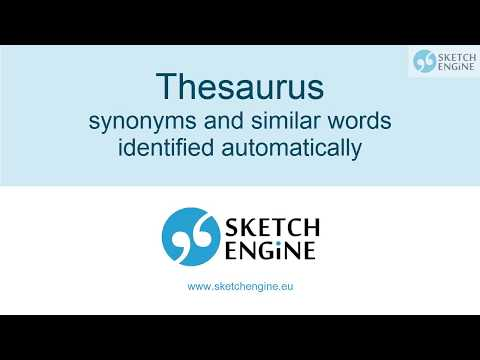 Thesaurus - synonyms and similar words identified automatically