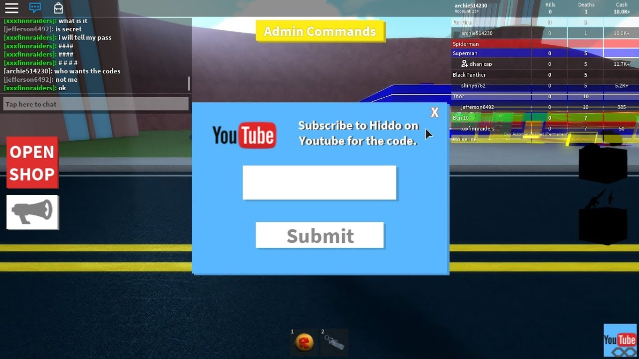 Roblox Youtube Tycoon Game Codes For Superhero Tycoon Feb 2018 Roblox Youtube