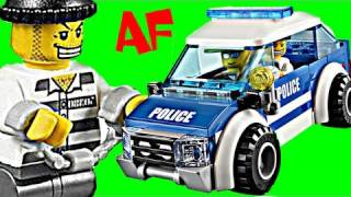 lego city police patrol car 4436 stop motion build review