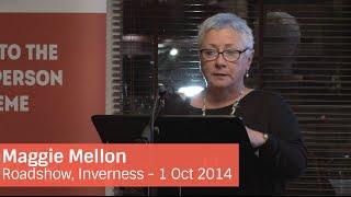 NO2NP Roadshow – Inverness: Maggie Mellon