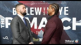INTENSE! - TONY BELLEW v DAVID HAYE - HEAD TO HEAD @ PRESS CONFERENCE / THE REMATCH