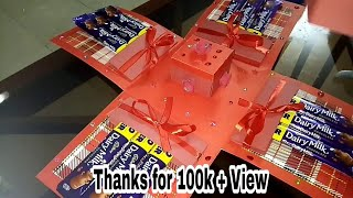 Easy making of chocolate explosion box