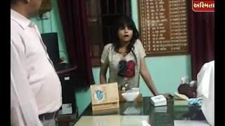 Drunked Surat Girl Mischief With Police In Pardi Police Station, Watch Video