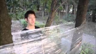 【グラップラーバキ(刃牙)】範馬勇次郎強化ガラス割り【再現してみた】