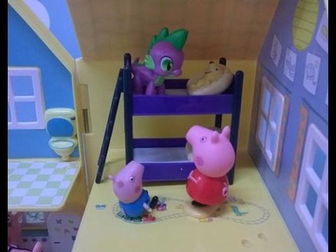 Bajka Świnka Peppa po polsku. Balon kucyków My Little Pony wylądował w ogrodzie Peppy