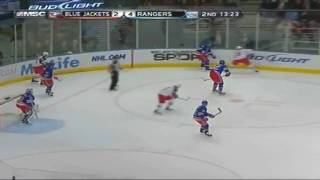 New York Rangers score 3 goals in 1:11 against the Colombus Blue Jackets (11/23/09)