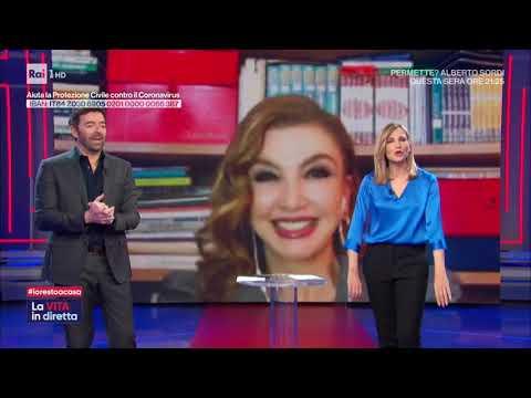A casa dei personaggi della TV - Milly Carlucci - La vita in diretta 24/03/2020