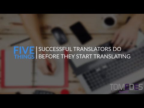 Top 5 Things Successful Translators Do