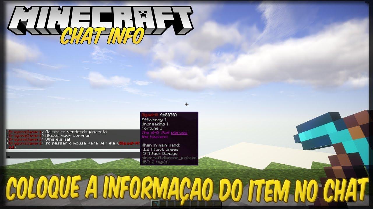 [Plugins] ChatItem Informaçao do item no chat!