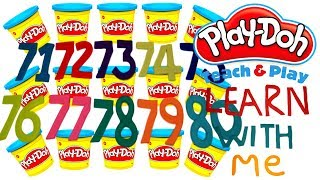 LEARN TO COUNT NUMBERS 71-80 WITH PLAY-DOH In ENGLISH l Squishy Fun