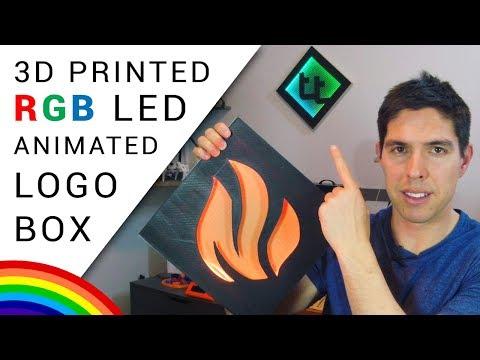 DIY animated RGB logo box - 3D print or laser/CNC!