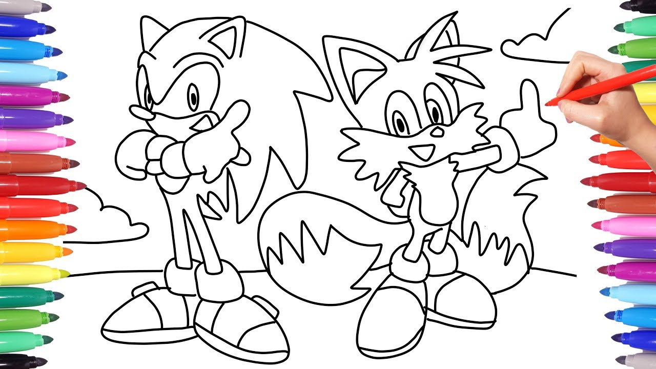 Sonic The Hedgehog And Tails How To Draw Sonic The Hedgehog Sonic Coloring Pages Sonic 2019 Youtube