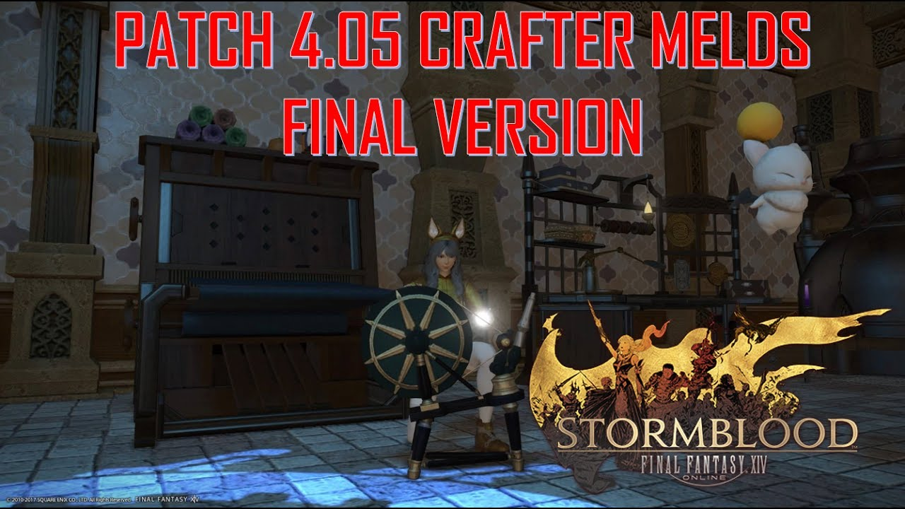 Final Fantasy XIV: Stormblood - Patch 4 05 Crafter Bis Final Materia Melds