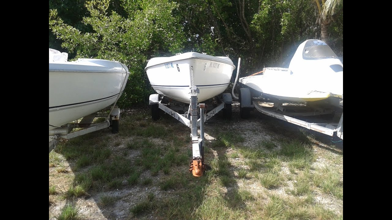 TWO HUNTER 170 , TWO TRAILERS FOR SALE