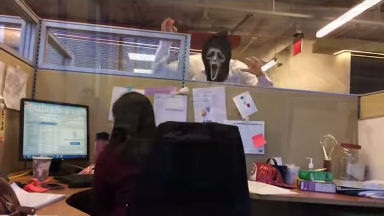 Office Pranks Compilation 12 OFFICE PRANKS - Compilation - Chick FREAKS outs at min 3:55!!