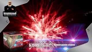"""Безопасный фейерверк """"Новогодняя серия"""" размер """"L"""" - 49 залпов"""