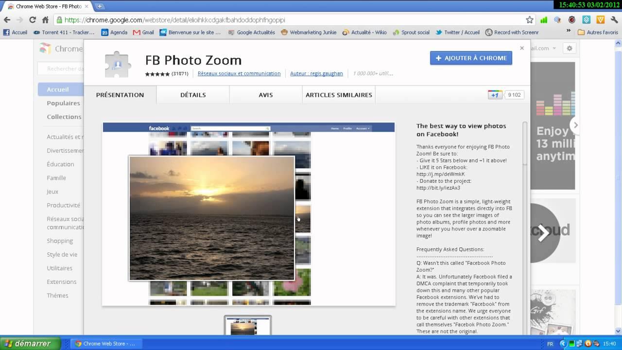facebook photozoom pour google chrome