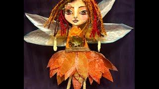 #CACFantasyArt Mixed Media Fairy Art Doll